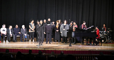 John P. Cleary | The Herald Bulletin The Dr. MLK Community Choir performs several musical selections for city-wide celebration of Dr. Martin Luther King Jr.