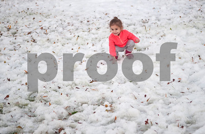 Kindly Ramirez, 3, of Tyler, plays in the snow during the 4th annual Winter Wonderland at Tyler Junior College Wednesday Dec. 2, 2015. The event featured a snow area, snow slide, bounce house, holiday games and free hot chocolate.   (Sarah A. Miller/Tyler Morning Telegraph)