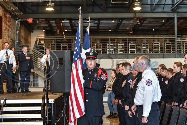 Presenting of Colors was performed at the opening of the Athens Fire and Rescue Swearing in Ceremony on Saturday, January 26. The event took place at the Texan on Palestine. (Jessica T. Payne/Tyler Morning Telegraph)