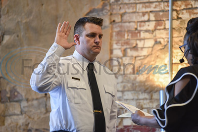 Assistant Fire Chief Paul Crayton is sworn in at the Athens Fire and Rescue Swearing in Ceremony on Saturday, January 26. The event took place at The Texan where Athens Mayor the Honorable Monte Montgomery swore in the Fire Personnel. (Jessica T. Payne/Tyler Morning Telegraph)