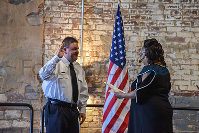 Athens Fire Chief Russell Marshall was sworn in during the Athens Fire and Rescue Swearing In Ceremony on Saturday, January 26. The special event was held at the Texan where the Assistant Fire Chief, Fire Marshal, Captains, Lieutenants and all Firefigthers were also sworn in. (Jessica T. Payne/Tyler Morning Telegraph)