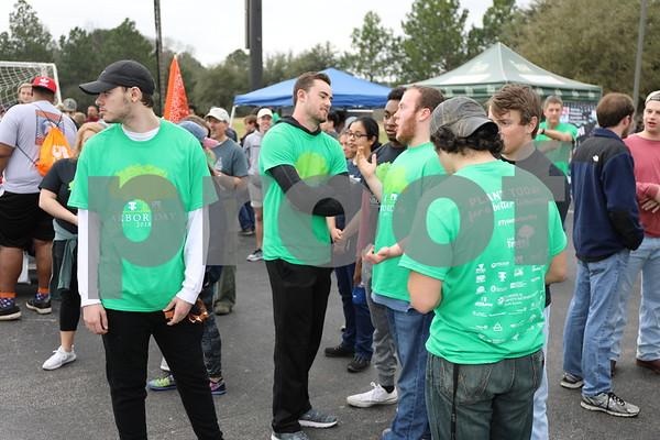 UT Tyler students gather for the Tyler Arbor Day Event at UT Tyler