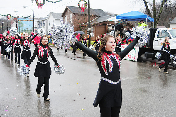 The Mohawk High danceline performs in front of the Wampum parade judges. Captain Katie Callahan leads the group. — Tiffany Wolfe/NEWS