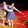 "Don Knight | The Herald Bulletin<br /> Michelle Houk and Scott Shook perform to ""Can I Steal a Little Love"" during Dancing Like the Stars at the Paramount on Saturday."