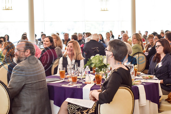 "People listen during the Literacy Council of Tyler donor luncheon at Willow Brook Country Club in Tyler, Texas, on Wednesday Jan. 29, 2019. This year's theme, ""Garden Party,"" is designed to reflect the critical role donors play in the life of LCOT and its students. (Chelsea Purgahn/Tyler Morning Telegraph)"
