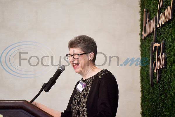 """Executive Director Nancy Crawford speaks during the Literacy Council of Tyler donor luncheon at Willow Brook Country Club in Tyler, Texas, on Wednesday Jan. 29, 2019. This year's theme, """"Garden Party,"""" is designed to reflect the critical role donors play in the life of LCOT and its students. (Chelsea Purgahn/Tyler Morning Telegraph)"""
