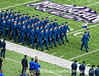 The first Air Force Academy squadron marches onto the field in the pre-game ceremony.