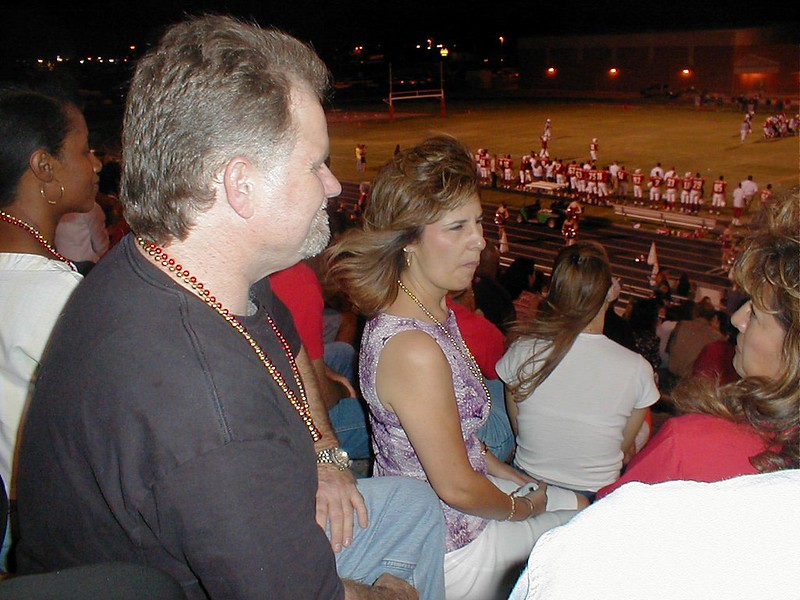 Mike and Eva at football game