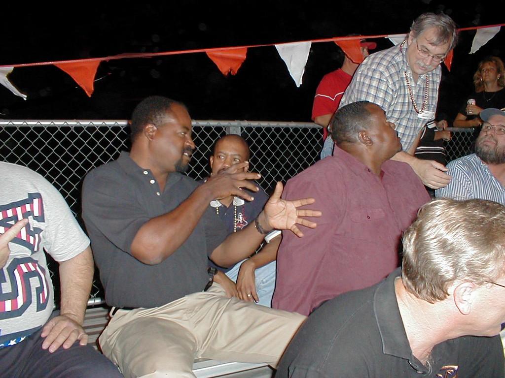 Mel, Robert and Don at Football game