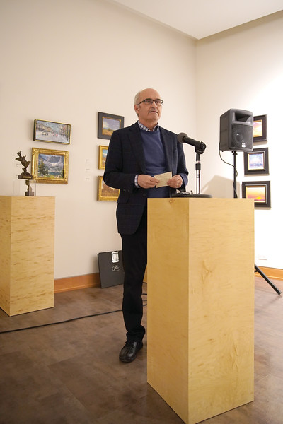 "Matthew Gaston | The Sheridan Press<br>Gary Miller, a Wyoming PBS board member, gives a brief intro before the northern Wyoming premiere of the documentary ""State of Equality"" on the 150th anniversary of Wyoming women's suffrage Tuesday, Dec. 10, 2019."