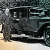Wyatt Earp Standing next to Williams S Harts automobile......
