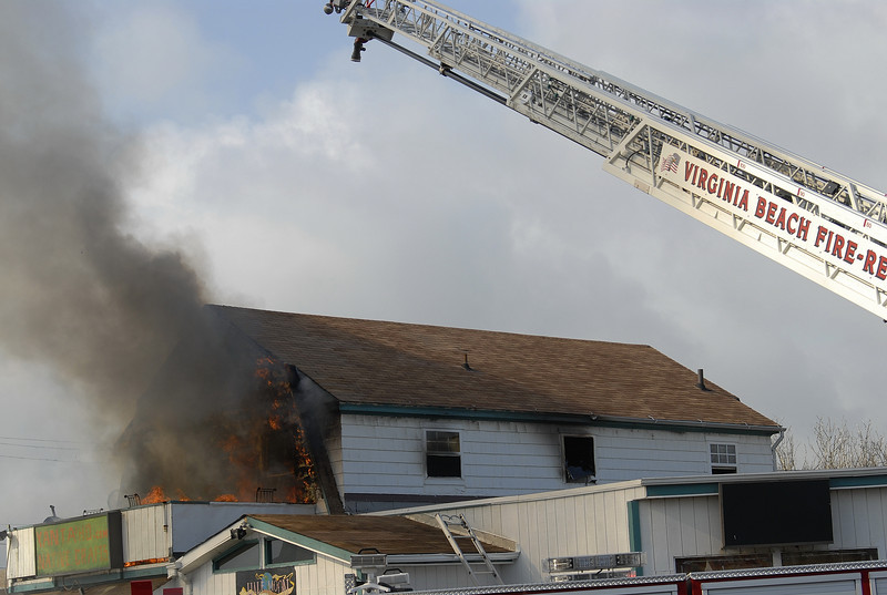 va beach, fire department, structural fire, oceanfront, half moon