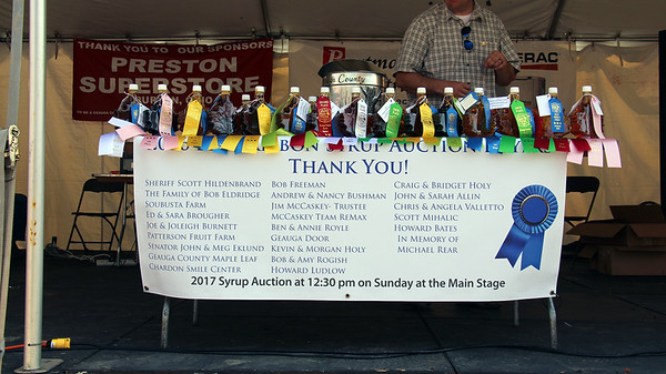 '17 Maple Festival - Syrup Auction