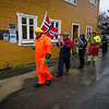 17.of may parade in Nyksund - wet in wet