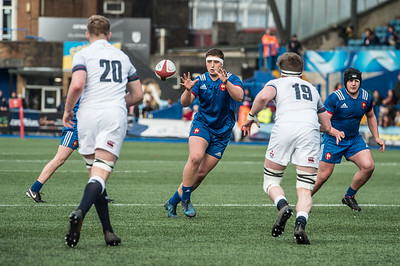Under 18's Six Nations Festival, France U18's v England U18's at Cardiff Arms Park in Cardiff, South Wales on Sunday 8 April 2018.   Pictures by Simon Latham