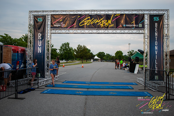 Nearby lightning didn't sway all you Memorial Park Glow Runners on Friday night. On record as the latest start time to date for Run Bentonville's Glow Run, runners still got their moment to light up the streets and run the 2 mile course.