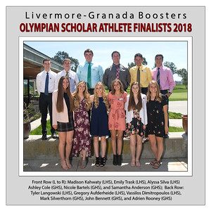 Olympian Scholar Athlete Finalists 2018