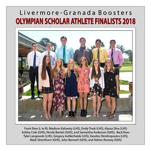 Olympian Scholar Athlete Finalists 2018