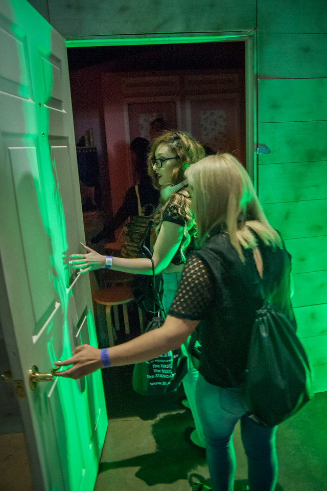 LOS ANGELES, CA - AUGUST 05: Warner Brothers' Annabelle: Creation VR installation at Scare LA Horror Convention held at Los Angeles Convention Center on August 5, 2017 in Los Angeles, California. (Photo by Tom Sorensen/Moovieboy Pictures)