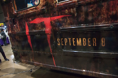 LOS ANGELES, CA - AUGUST 05: Warner Brothers' It Bus VR installation at Scare LA Horror Convention held at Los Angeles Convention Center on August 5, 2017 in Los Angeles, California. (Photo by Tom Sorensen/Moovieboy Pictures)