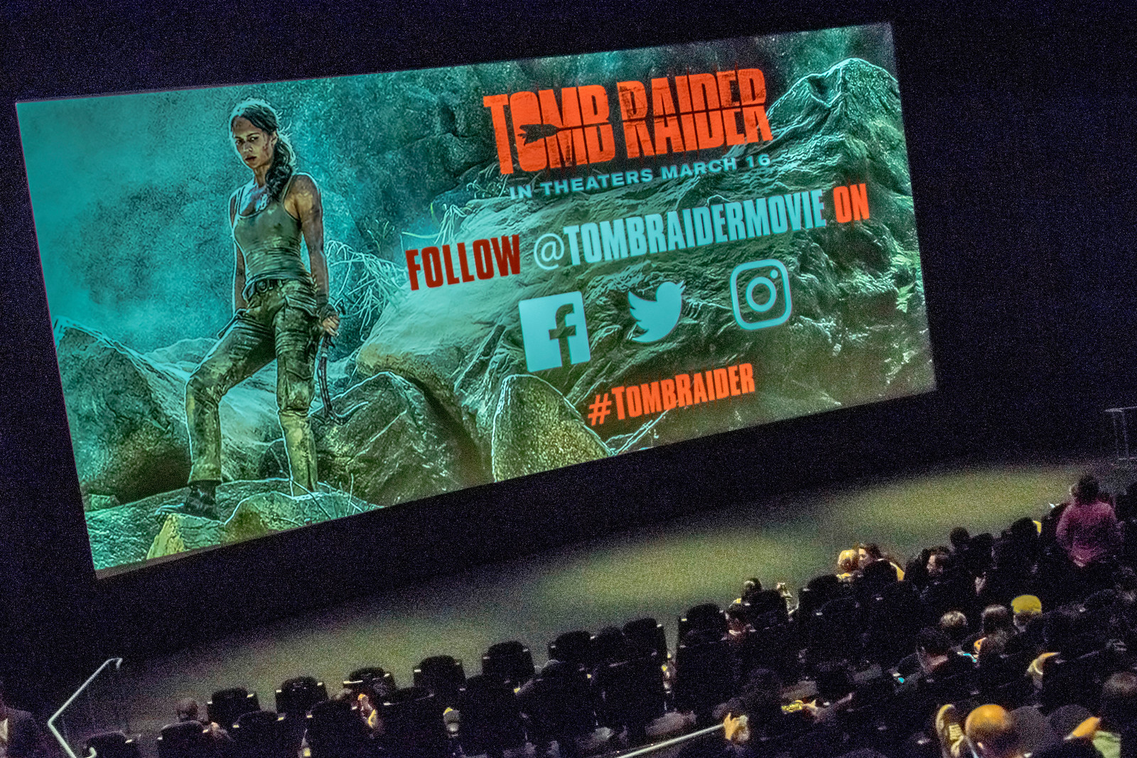 HOLLYWOOD, CA - MARCH 7: Atmosphere at the Los Angeles screening of 'Tomb Raider' at ArcLight Hollywood on Wednesday March 7, 2018 in Hollywood, California. (Photo by Tom Sorensen/Moovieboy Pictures)