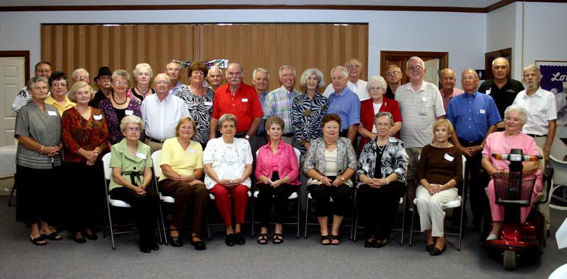 The class of Snow Hill High School - 1957 - Class Reunion - Harrell's Chapel Church, September 25, 2010.