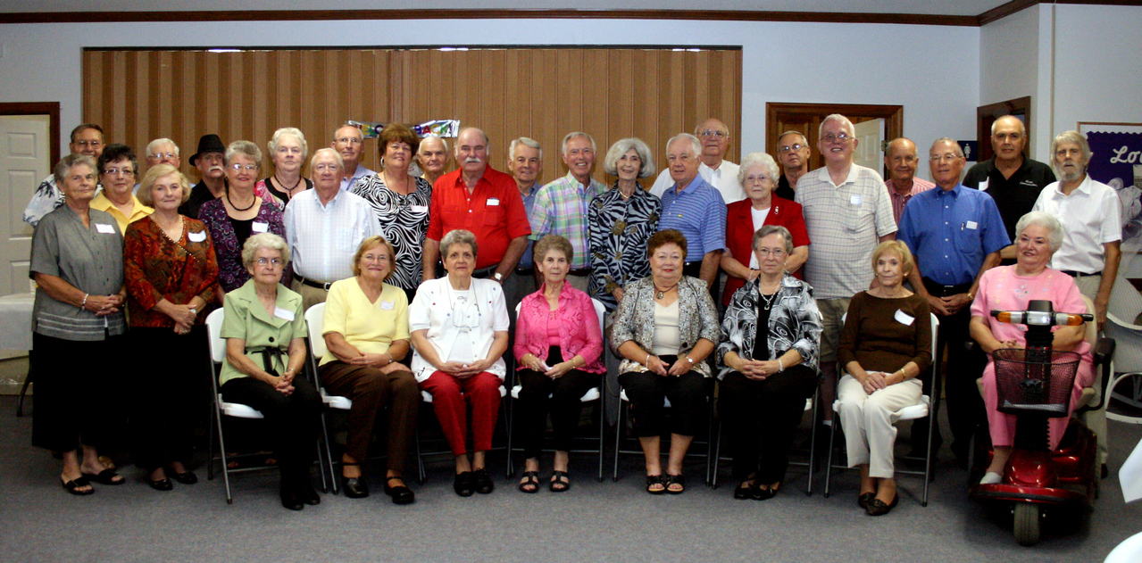 The class of Snow Hill High School - 1957 - Class Reunion - Harrell's Chapel Church, September 25, 2010.