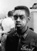 "Boy with ""VOTE"" whitewashed onto forehead - March 25, 1965<br /> <br /> Selma to Montgomery, Alabama Civil Rights March; March 23-25, 1965"