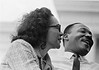 Coretta Scott King and Dr. Martin Luther King, Jr. - March 25, 1965<br /> Selma to Montgomery, Alabama Civil Rights March<br />  - Photo by Stephen Somerstein©
