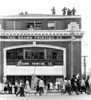 "Rooftop troops guarding marchers passing in front of ""THE BROWN PRINTING COMPANY""<br /> <br /> Selma to Montgomery, Alabama Civil Rights March, March 24-26, 1965"
