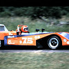 "Don Wands, DSR Ocelot Mk III<br /> <br /> History of this car from Jack Marr:<br /> ""Ron Dennis won the 1973 Runoffs in a car wearing this body.<br /> <br /> It was later crashed by Don Wands at Road America and rebodied with the yellow body shown elsewhere on the Sports Racer Network. <br /> <br /> Jack Marr bought it from Don's widow in 1978, ran it for a couple of seasons and sold it to Larry Myers after the 1980 Runoffs. <br /> <br /> Larry put the silver Tiga body on it (as seen elsewhere on the Sports Racer Network) and converted it from Suzuki to Honda power.<br /> <br /> My car was properly a ""III B"". The Mk III's were SAAB powered, the ""B"" designated a Suzuki engine. My car was originally built for SAAB/Hewland and had those mounts in the chassis, but was changed to Suzuki during construction. The SAAB was never installed. <br />  <br /> As I recall, the next cars in line were the Mk IV's which were a conventional bodied Suzuki car. The streamliners were the Mk V."""
