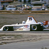 """""""Al Unser Jr. qualified his Frissbee GR3 on pole and lapped the field on his way to the Can-Am winner's circle. It's worth noting that while many criticized the single-seat Can-Am era as being a mere shadow of the original series, Unser's pole lap was nearly two seconds faster than the time set by Mark Donohue's legendary Porsche 917-30 in 1973.""""<br /> <br /> Photo from the 1982 SCCA Can Am races at Laguna Seca, CA<br /> <br /> Photo by Dan Wildhirt used with permission. <a href=""""http://photos.wildhirt.com/"""">http://photos.wildhirt.com/</a>"""
