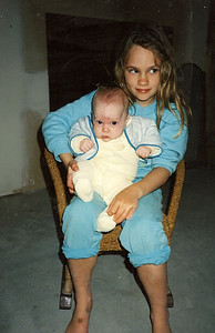 Emily Dellit and Nicky 1989