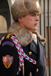 A Czech guard