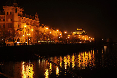 The Vltava waterside