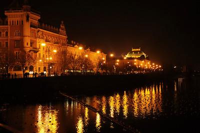 The Vltava waterside