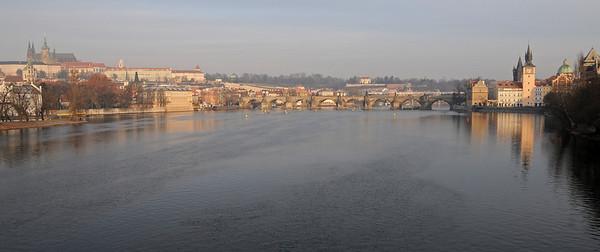 The Vltava with the Charles bridge