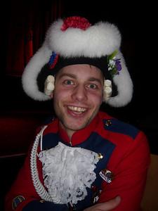 Patrick in his Beueler Stadtsoldaten outfit