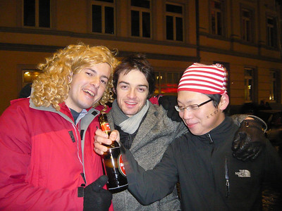 In front of the Musiktruhe on Weiberfastnacht