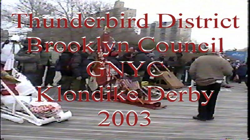 2003 Thunderbird District Klondike Derby