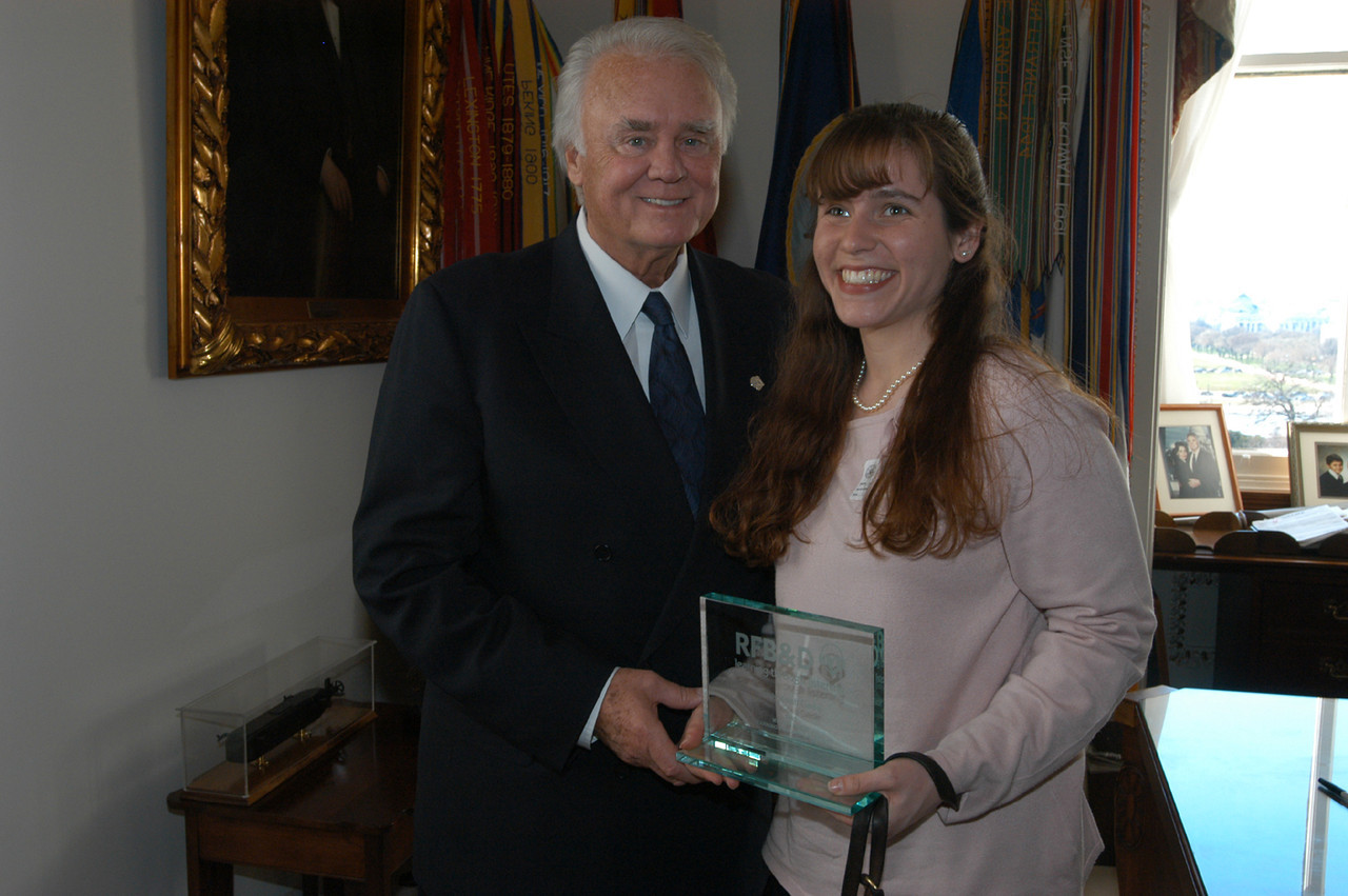 House Appropriations Chair, Congressman Bill Young, with Sarah M. Swords.