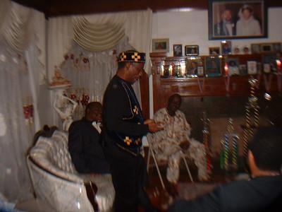 Chief Okosun at preevent dinner