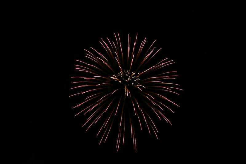 USA, New Mexico, Albuquerque, 2005 Albuquerque International Balloon Fiesta, Fireworks