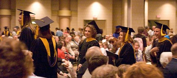 "<br><br><font size=""3"">The graduates march out.</font>"