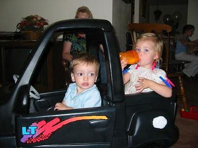 Jayme and Lexi in new Truck