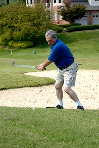 Conference Chair Joe Bradshaw tried his swing.  Kentucky EMS Conference and Expo Golf Scramble. The Summit Golf Course.