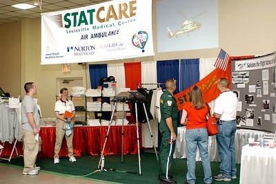 STATCARE booth. Kentucky EMS Conference and Expo.