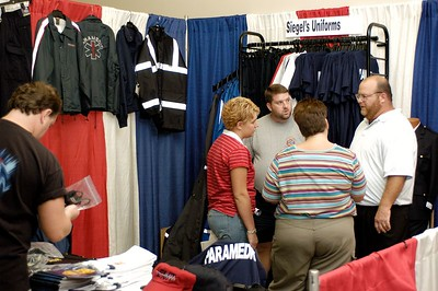Siegel's Uniforms booth. Kentucky EMS Conference and Expo.