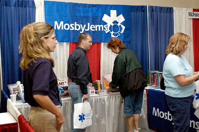 MosbyJems booth. Kentucky EMS Conference and Expo.