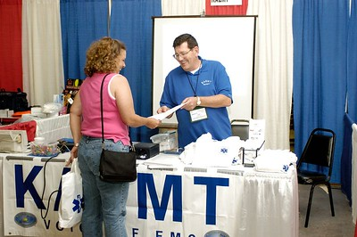 Kentucky Association of EMTs booth. Kentucky EMS Conference and Expo.